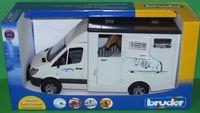 """Модель машины """"MB Sprinter фургон с лошадью"""" (масштаб: 1/16)"""