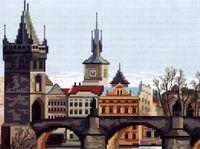 """Вышивка крестом """"Прага, полдень"""""""