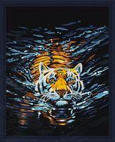 "Картина по номерам ""Плывущий тигр"" (400х500 мм)"