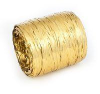 Рафия декоративная (5 м; металлизированное золото)
