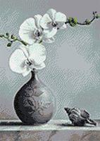 "Алмазная вышивка-мозаика ""Белая орхидея"" (270х380 мм)"