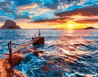 """Картина по номерам """"Морской закат"""" (400х500 мм)"""
