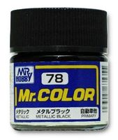 Краска Mr. Color (metallic black, C78)