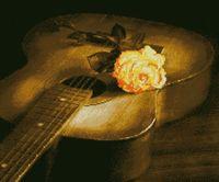 """Алмазная вышивка-мозаика """"Гитара и роза"""""""