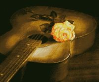 "Алмазная вышивка-мозаика ""Гитара и роза"" (560х470 мм)"