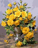 """Картина по номерам """"Букет желтых роз"""" (400x500 мм; арт. MG613)"""
