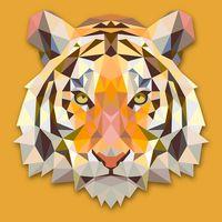 """Картина по номерам """"Тигр"""" (400х500 мм)"""