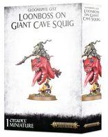 Warhammer Age of Sigmar. Gloomspite Gitz. Loonboss On Giant Cave Squig (89-35)