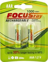 Аккумулятор AAA 1000 мАч FOCUSRAY (2 штуки)