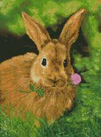 """Алмазная вышивка-мозаика """"Кролик на обеде"""""""