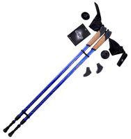 Палки для скандинавской ходьбы 2-секционные Rainbow (86-140 см; синие)