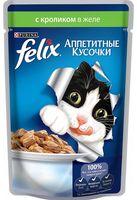 """Пресервы для кошек """"Аппетитные кусочки"""" (85 г; кролик в желе)"""