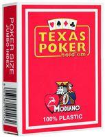 """Карты для покера """"Modiano Texas Poker"""" (красная рубашка)"""