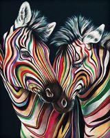 """Алмазная вышивка-мозаика """"Цветные зебры"""" (400х500 мм)"""