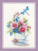 """Вышивка крестом """"Цветочный чай"""" (305х190 мм)"""