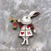 "Брошь ""Кролик из Страны Чудес"" (арт. 271-1)"