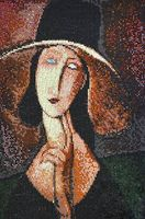 "Вышивка бисером ""Портрет Жанны Эбютерн"" (220х350 мм)"