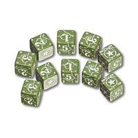 """Набор кубиков """"США"""" (D6, 2 цвета, 10 шт)"""