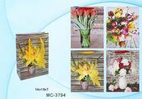 """Пакет бумажный подарочный """"Цветы"""" (в ассортименте; 14x19x7 см; арт. МС-3794)"""