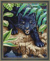 """Картина по номерам """"Черный леопард"""" (400х500 мм)"""