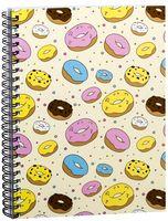 """Блокнот в клетку """"Пончики"""" A5 (арт. 1378)"""