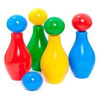 """Набор для боулинга """"Кегли с шариком"""" (4 шт)"""
