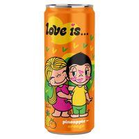 """Напиток газированный """"Love is. Ананас-апельсин"""" (330 мл)"""