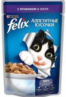 """Пресервы для кошек """"Аппетитные кусочки"""" (85 г; ягненок в желе)"""