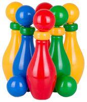 """Набор для боулинга """"Кегли с шариком и кольцом"""" (6 шт)"""