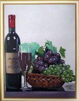 """Вышивка бисером """"Натюрморт с виноградом"""""""
