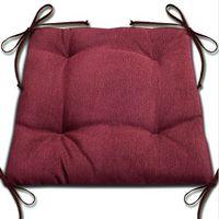 """Подушка на стул """"Анита"""" (42х42 см; бордо)"""