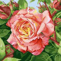 "Алмазная вышивка-мозаика ""Чайная роза"""