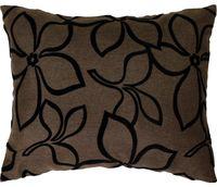 """Подушка """"Цветы"""" (37x47 см; коричневая)"""