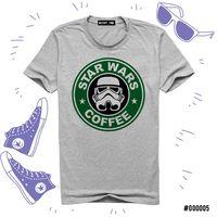 """Футболка серая унисекс """"Звездные войны. Кофе"""" L (005)"""