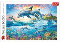 """Пазл """"Счастливые дельфины"""" (2000 элементов)"""