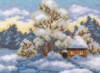 """Вышивка крестом """"Дом на опушке"""" (110x75 мм)"""