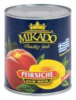 """Персики в сиропе """"Mikado. Половинки"""" (850 мл)"""
