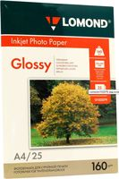 Фотобумага глянцевая односторонняя Lomond (25 листов; 160 г/м2; А4)