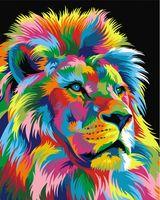 """Картина по номерам """"Ваю Ромдони. Королевский Радужный лев"""" (400х500 мм)"""