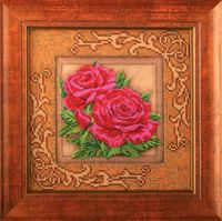 """Вышивка бисером """"Роскошные розы"""" (205х205 мм)"""