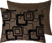 """Подушка """"Геометрия"""" (37x47 см; коричневая)"""
