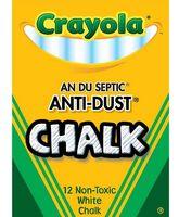 """Мел белый """"Crayola"""" (12 штук)"""