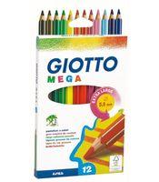 "Набор карандашей цветных ""Giotto Mega"" (12 цветов)"