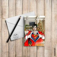 """Открытка """"Супермэн"""" (арт. 257)"""