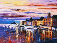 """Картина по номерам """"Озеро Комо-Белладжио"""" (300х400 мм)"""