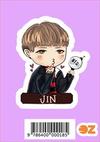 """Глянцевая наклейка """"BTS. Jin"""" (арт. 0018)"""