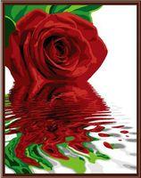 "Картина по номерам ""Красная роза"" (400х500 мм)"