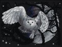 """Вышивка крестом """"Белая сова"""""""