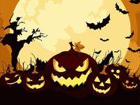 "Картина по номерам ""Хэллоуинские тыквы"" (165х130 мм)"