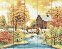 """Картина по номерам """"Домик с водяной мельницей"""" (400х500 мм)"""